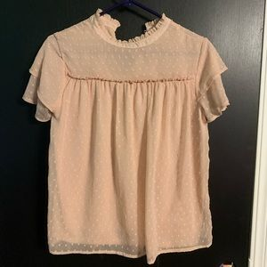 Light Pink/mauve colored baby doll blouse (Size M)